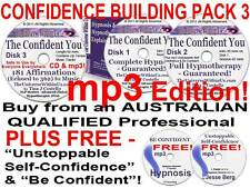 7x mp3 's CD CONFIDENT YOU HYPNOTHERAPY HYPNOSIS + UNSTOPPABLE SELF-CONFIDENCE q