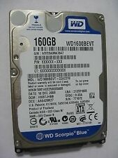 "Western Digital WD1600BEVT - 22A23T0 160Gb 2.5"" Laptop Internal SATA Hard Drive"