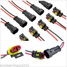 10in1 2-Pin Way Autos Truck Electrical Cable Connector Plug AC/DC With Wire AWD