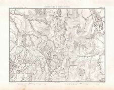 1859 DUVOTENAY MAP-BATTLE OF  EYLAU, PRUSSIA/RUSSIA
