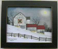 Billy Jacobs Christmas Star Quilt Block Barn Framed Country Primitive Pictures