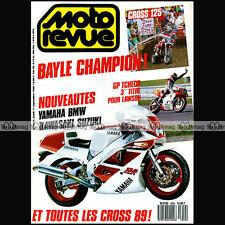MOTO REVUE N°2859 YAMAHA FZR 600 1000 RDLC 350 XV 250 VIRAGO SUZUKI RM 250 1988