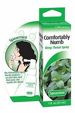 COMFORTABLY NUMB DEEP ORAL THROAT NUMBING SPRAY - SPEARMINT 1 oz