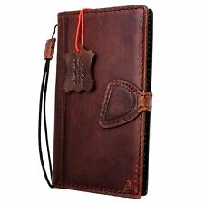 genuine vintage leather Case full apple iphone 7 plus book wallet cover magnetic