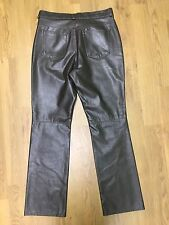 """Ladies M&S Leather Style PVC Trousers Size 12 W30"""" L29.5"""" Motor Cycle"""