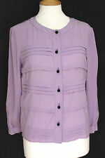 PRADA Purple Lilac Silk Shirt Blouse 42 uk 10