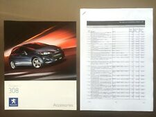 Peugeot 308 Accessories Brochure & Price List