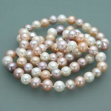 Beautiful 7-8mm Natural Akoya Freshwater Pearl Necklace Bracelet Earrings