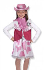 Melissa & Doug Cowgirl age 3-6 yrs child role play fancy dress costume