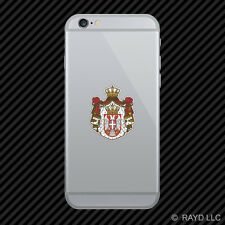 Serbian Coat of Arms Cell Phone Sticker Mobile Serbian flag SRB RS