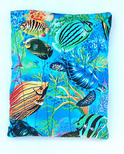 Fishes Fabric Quilted Hot/Cold Pack w/Corn-Microwave/Freezer-Pizazz Creations
