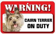 Cairn Terrier Sign - Laminated Card -  Beware Of Dog 20cm x 12cm