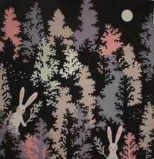 Furoshiki Japanese Fabric 'Rabbits in the Trees' Motif Cotton 50cm