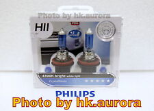 Genuine Philips Crystal Vision CrystalVision H11 4300K headlight bulb light