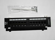 CAT6 12 PORT PATCH PANEL CAT-6 FREE SHIP! USA SELLER! TUFF JACKS QUALITY!