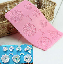 Flower Bow Silicone Fondant Cake Decorating Lace Moulds Icing Sugarcraft