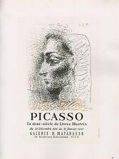 """1989 VINTAGE """"UN DEMI-SIECLE DE LIVRES ILLUSTRES"""" PICASSO offset Lithograph"""