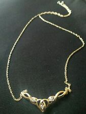 9ct yellow gold  diamond set Prince of Wales necklace RRP £89.99 bargain