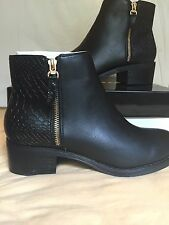 Miss  KG Black  Shoes Ankle Boots Size 6 Uk Euro 39 RRp 85£