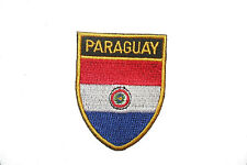 PARAGUAY COUNTRY FLAG OVAL SHIELD FLAG EMBROIDERED IRON-ON PATCH CREST BADGE
