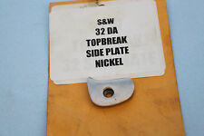 S&W SMITH AND WESSON TOPBREAK Sideplate side plate DA  32 DOUBLE ACTION NICKEL