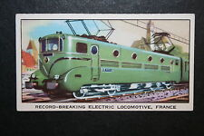 French Railways  SNCF  BB9004  Electric Locomotive   1960's Vintage Card   VGC