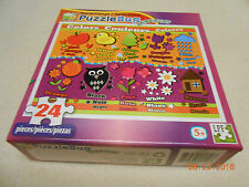 NEW PUZZLE BUG LEARNING PUZZLE 24 PIECE COLORS COULEURS COLORES LPF STOCKING STU