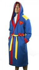 Superman Hooded Character Robe with Belt- Size Sm/Med- FREE S&H