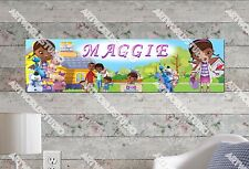 Personalized/Customized Doc McStuffins Name Poster Wall Art Decoration Banner