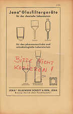JENA, Werbung 1942, Jenaer Glaswerk Schott & Gen. Glasfiltergeräte pharma Filter