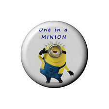 Despicable Me Minion Button Badge - 2.5cm 1 inch NEW one in a million