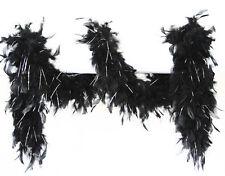 Federschal Federboa schwarz-silber 180cm NEU - Zubehör Accessoire Karneval Fasch