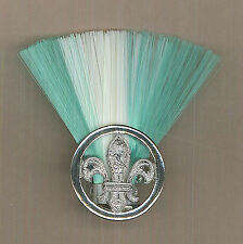 SCOUTS OF ZIMBABWE - GROUP SCOUT MASTER (G/W/G COLOUR) Metal Plume / Hat Patch