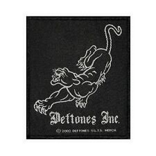 """Deftones Inc"" Black Panther Logo Rock Metal Music Woven Sew On Applique Patch"
