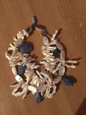 Designer Pearl Gerda Lynggaard 2 Strand Necklace Monies Sea Shell Jewellery