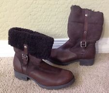 UGG #1914 Bellvue Brown Ankle Winter Boots -Sz 8 European 39