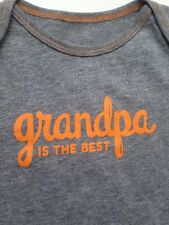 "NEW Baby Boy 12M One Piece Bodysuit ""GRANDPA IS THE BEST"""