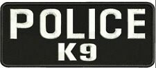 POLICE K-9 embroidery patches 2x5 hook  white letters