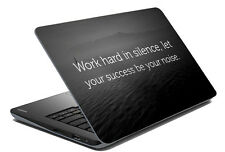 meSleep Black Quotes Laptop Decal - Laptop Skin- Size-14.1 to 15.6 inches