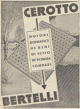 W6688 Cerotto BERTELLI - Pubblicità 1939 - Advertising