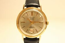 "VINTAGE RARE MEN'S GOLD PLATED USSR AUTOMATIC WATCH""POLJOT""DE LUXE""/DATE OF SIX."