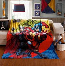 "Super Hero The Avengers Soft Flannel Blanket Throw Bedding Bedroom Rug 79""x59"""