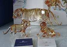 Swarovski  SCS ANNUAL EDITION 2010 SET  TIGER  &  2  CUBS  BRAND NEW IN BOX