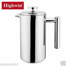 Highwin 8-Cup 34OZ Double Wall Stainless Steel French Coffee Press Maker Plunger