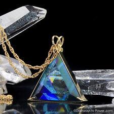 Aqua Aura Star of David Pendant -14k Gold  Extraordinary