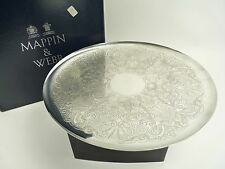 """MAPPIN & WEBB Silver Plate - Footed Cake Plate - 10"""""""