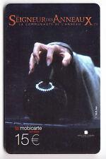 FRANCE MOBICARTE TELECARTE / PHONECARD .. PU202 15€ SEIGNEUR ANNEAUX UT/TBE C.8€