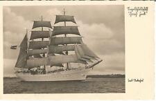 Schiff, Segelschiff Gorch Fock, alte Foto-Ansichtskarte um 1935