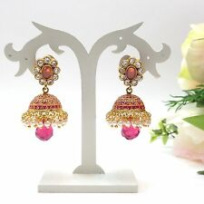 Indian Asian Bridal Jewellery Bollywood Ethnic Wear Jhumka Earrings Length:1.6""