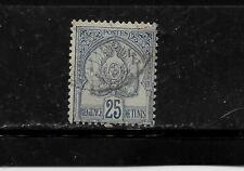 TUNISIA SC #19 1901 POSTALLY USED 25c COAT OF ARMS DEFINTIVE SINGLE STAMP
